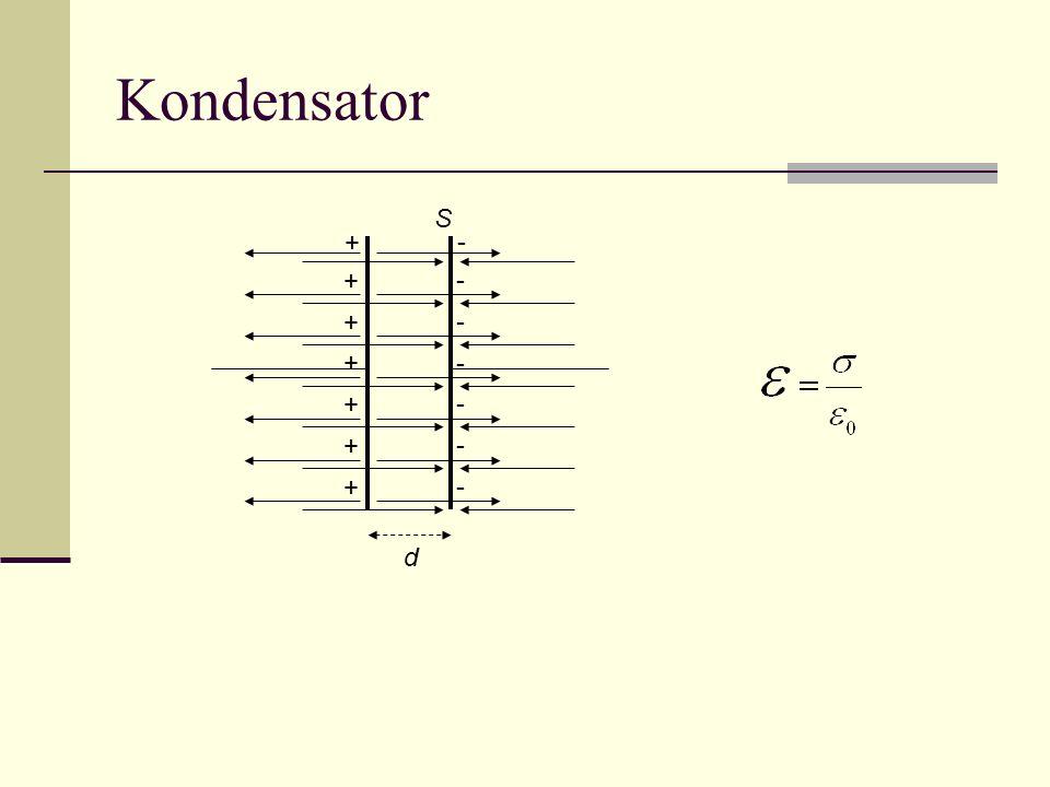 Kondensator S + - + + + + + + d