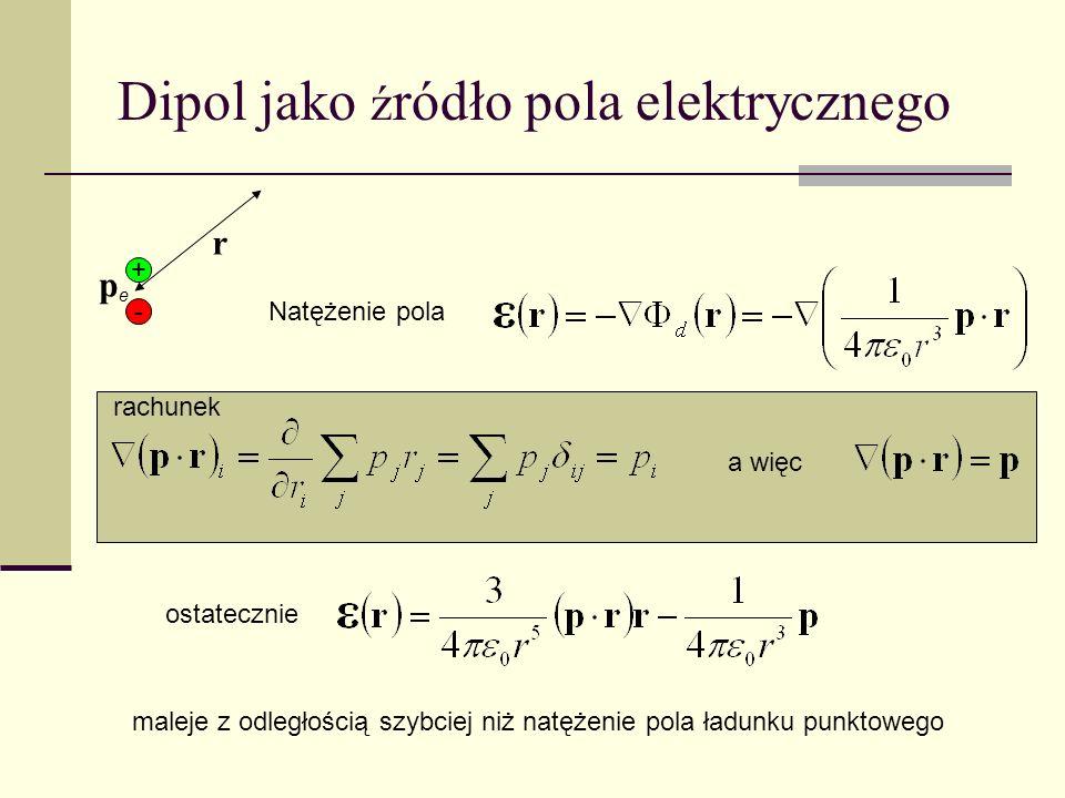 Dipol jako źródło pola elektrycznego