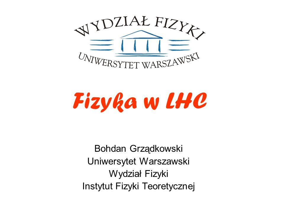 Fizyka w LHC Bohdan Grządkowski Uniwersytet Warszawski Wydział Fizyki