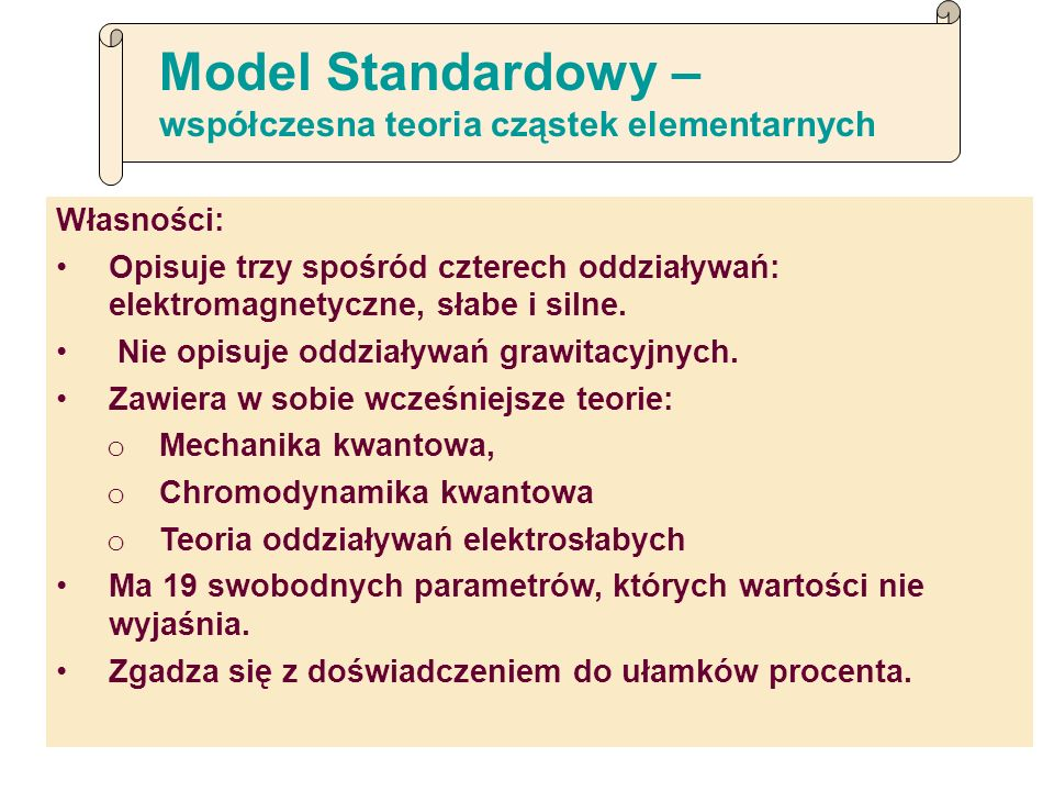 Model Standardowy – współczesna teoria cząstek elementarnych