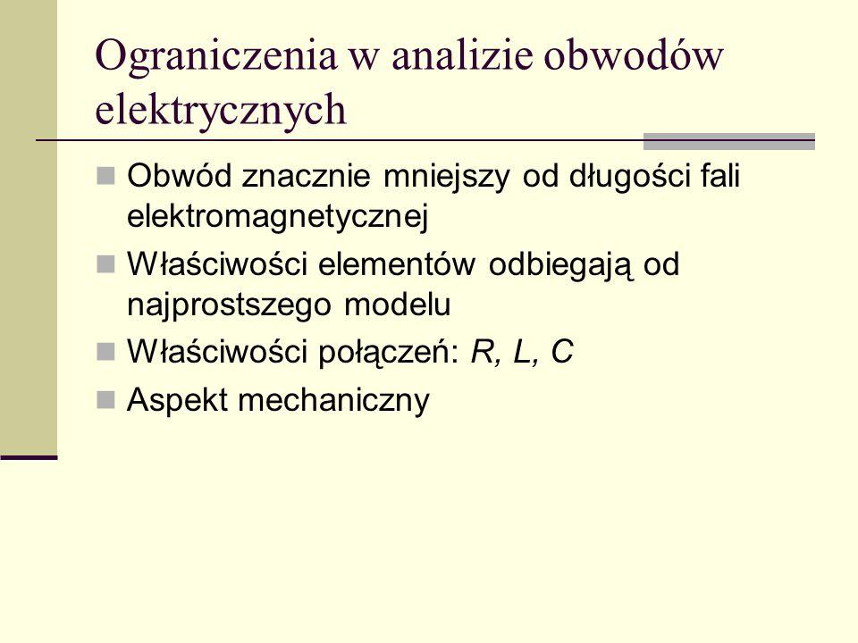 Ograniczenia w analizie obwodów elektrycznych