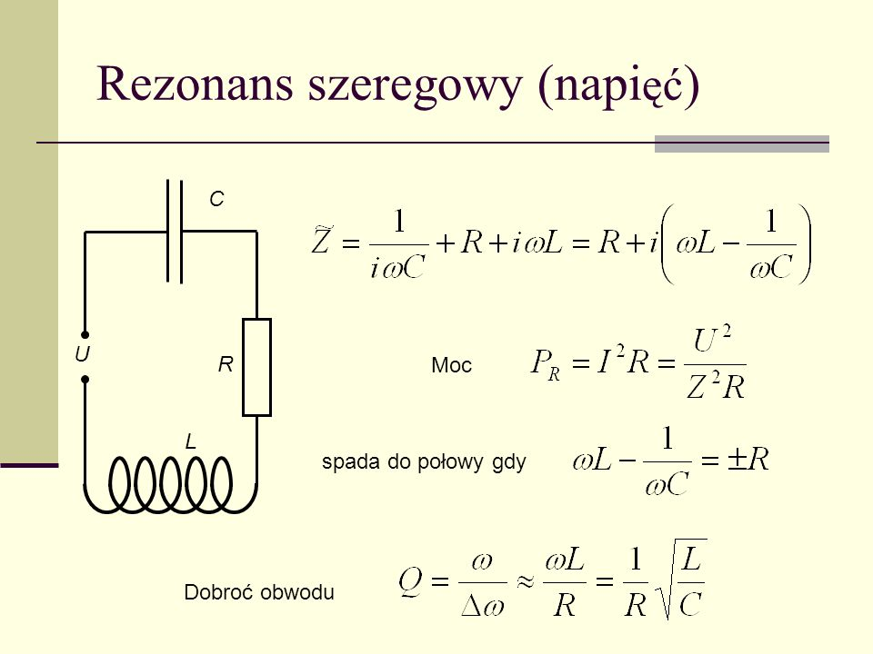Rezonans szeregowy (napięć)