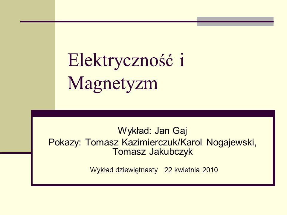 Elektryczność i Magnetyzm