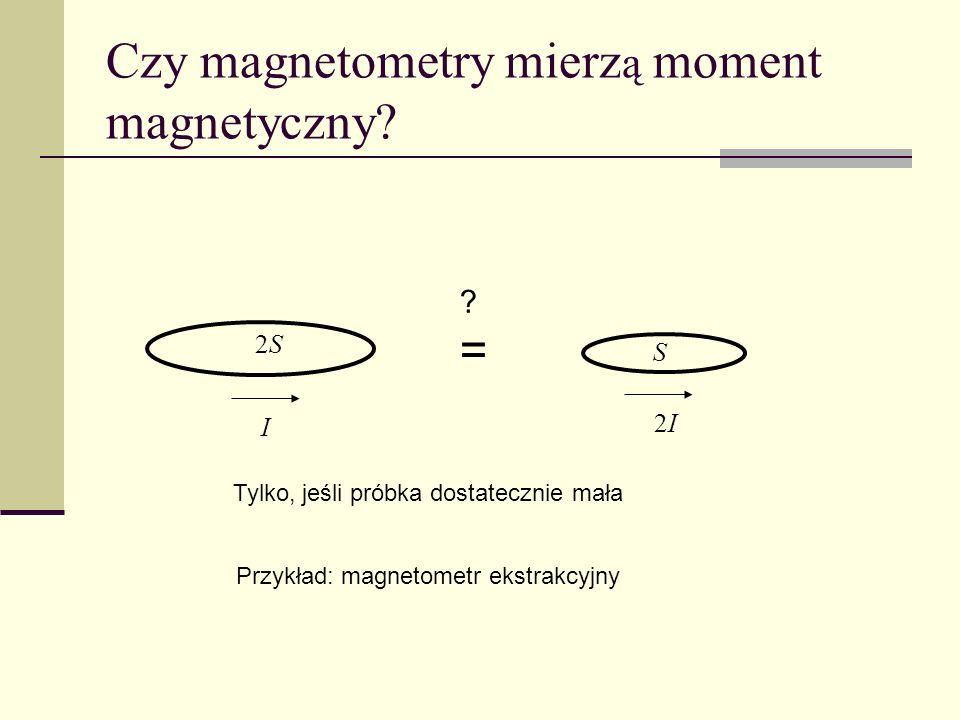Czy magnetometry mierzą moment magnetyczny