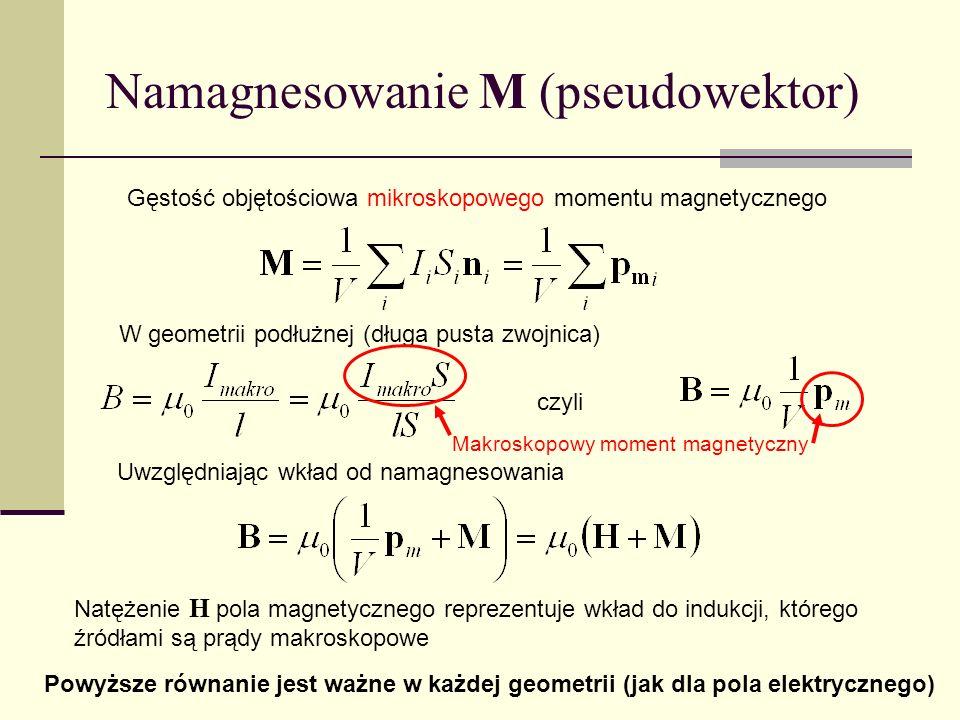 Namagnesowanie M (pseudowektor)