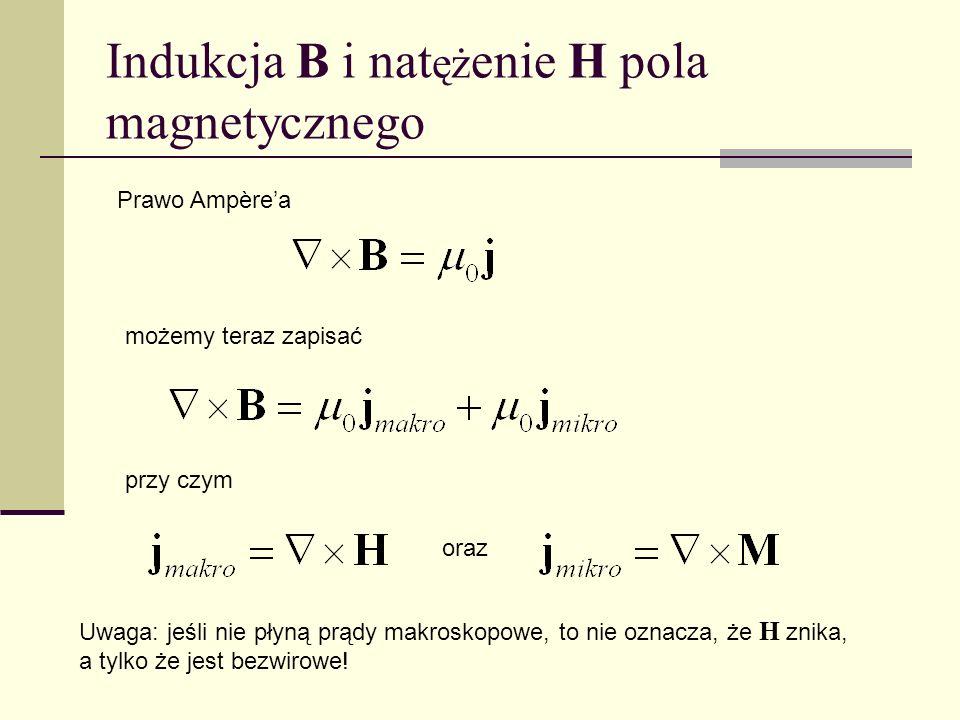 Indukcja B i natężenie H pola magnetycznego
