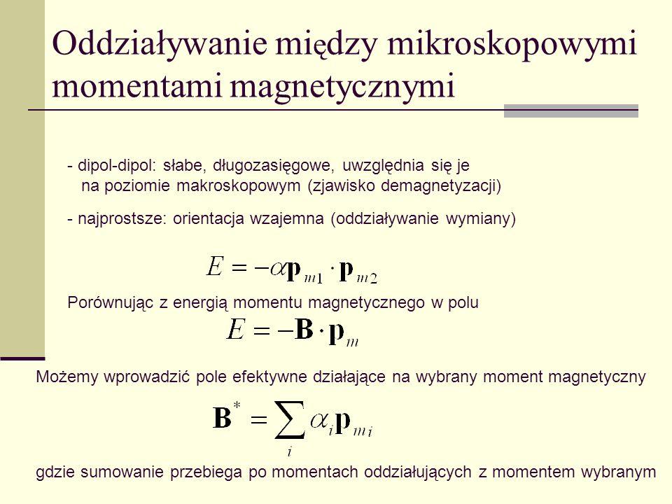 Oddziaływanie między mikroskopowymi momentami magnetycznymi