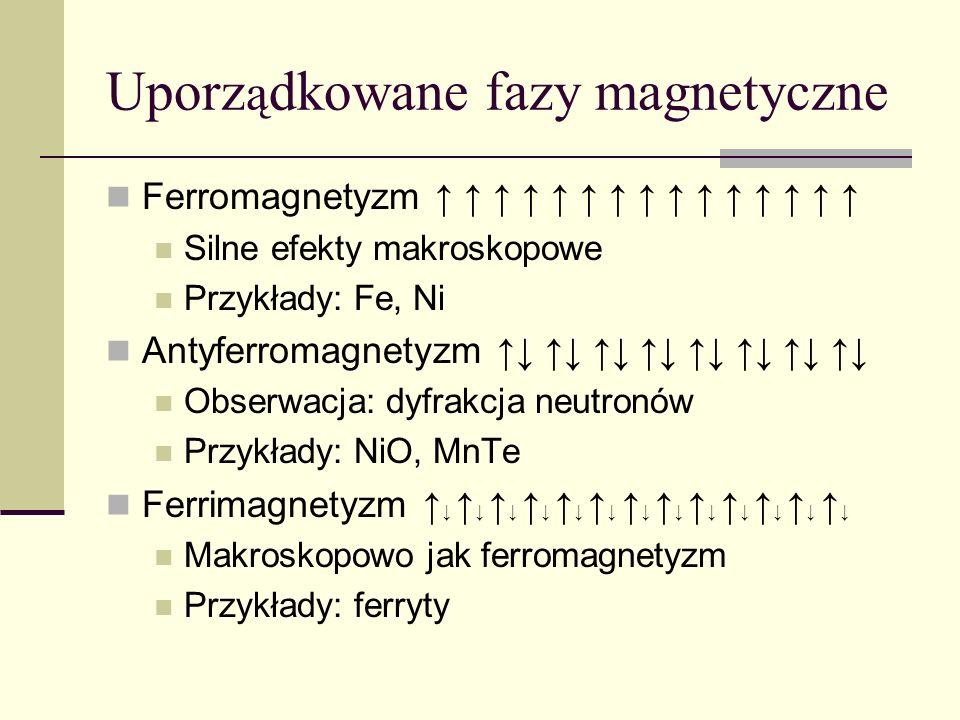 Uporządkowane fazy magnetyczne