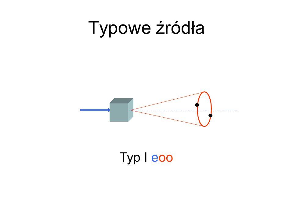 Typowe źródła Typ I eoo