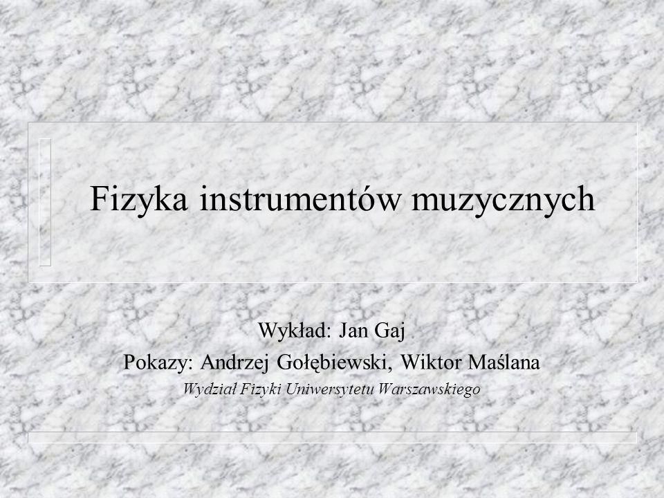 Fizyka instrumentów muzycznych