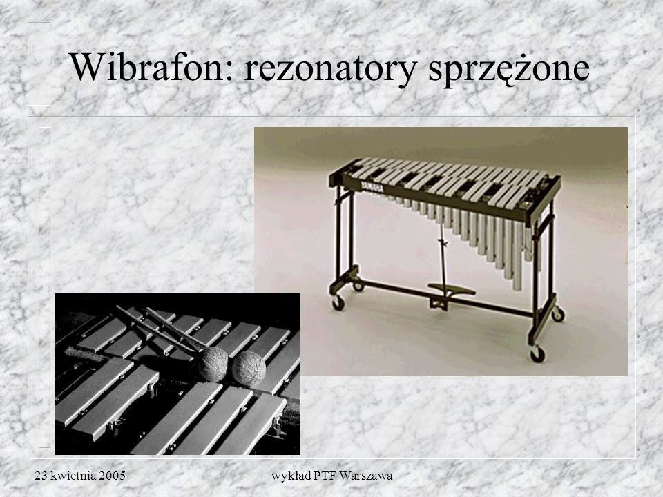 Wibrafon: rezonatory sprzężone