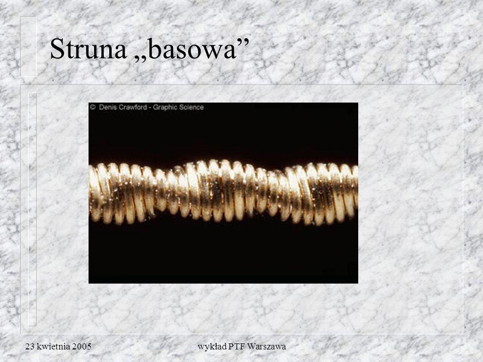 """Struna """"basowa 23 kwietnia 2005 wykład PTF Warszawa"""