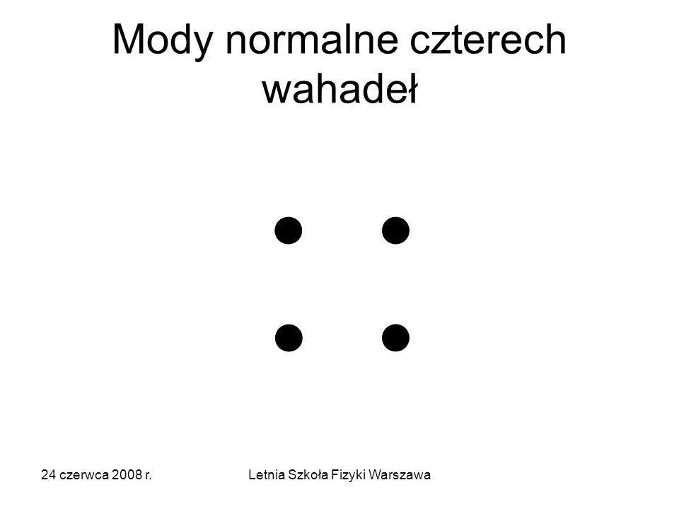Mody normalne czterech wahadeł