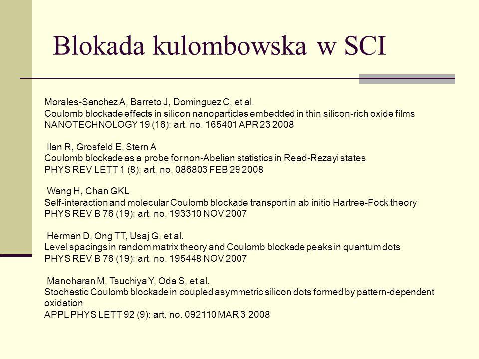 Blokada kulombowska w SCI