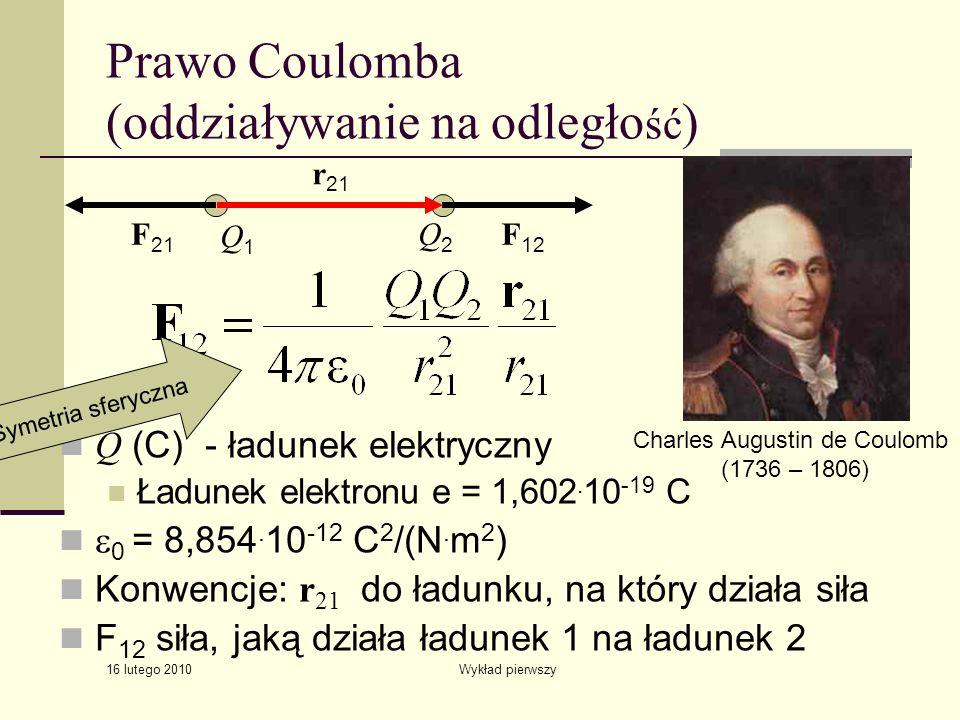 Prawo Coulomba (oddziaływanie na odległość)