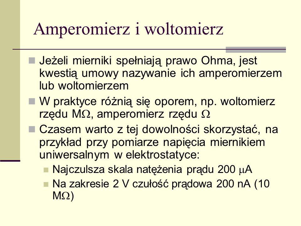 Amperomierz i woltomierz