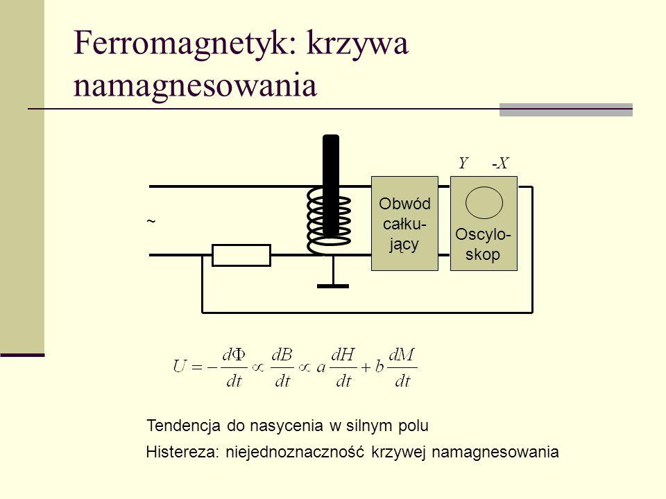 Ferromagnetyk: krzywa namagnesowania