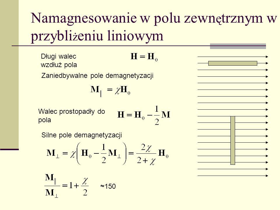 Namagnesowanie w polu zewnętrznym w przybliżeniu liniowym
