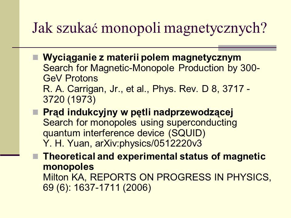Jak szukać monopoli magnetycznych