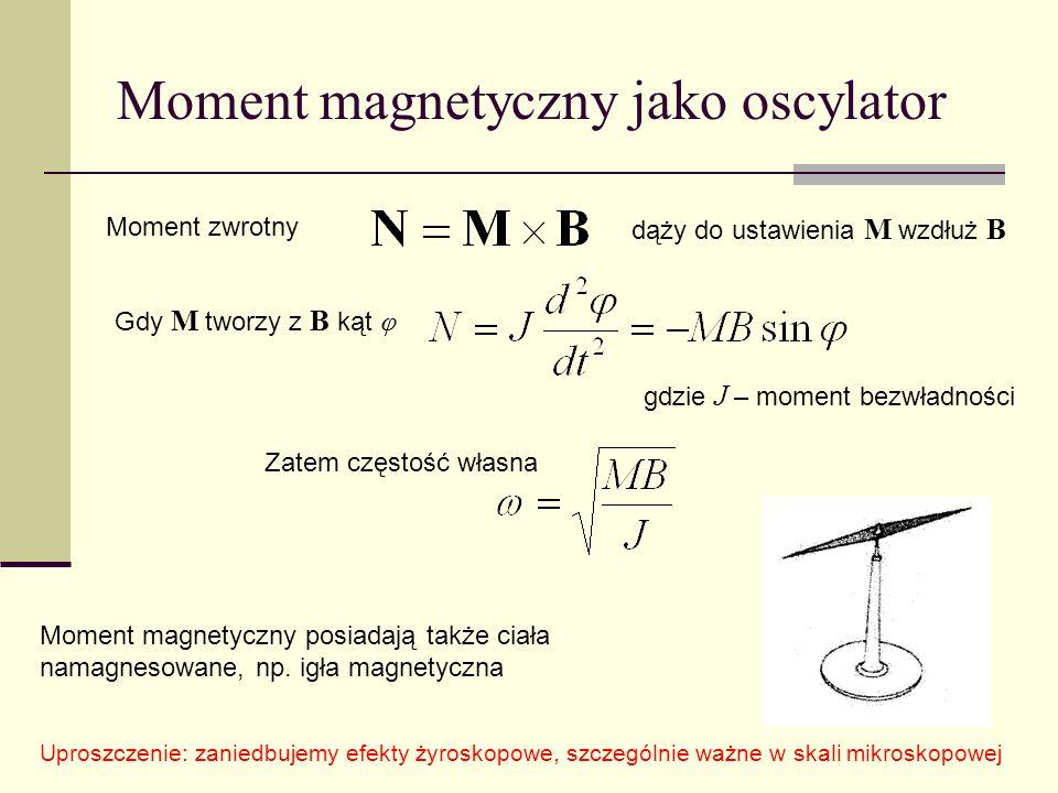 Moment magnetyczny jako oscylator