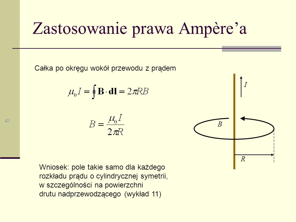 Zastosowanie prawa Ampère'a