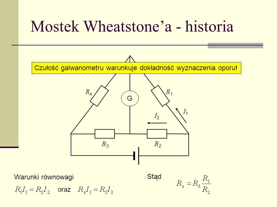 Mostek Wheatstone'a - historia