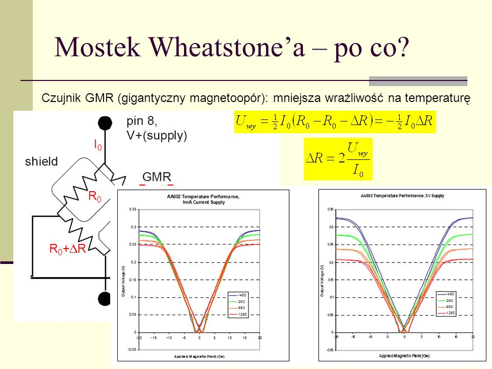 Mostek Wheatstone'a – po co