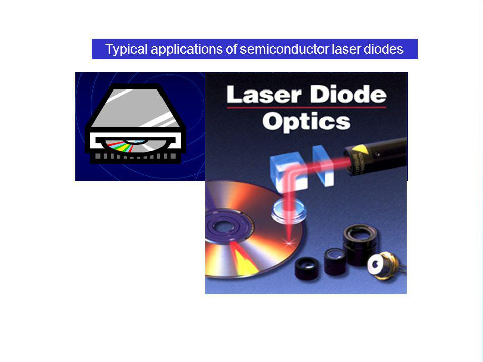 Typical applications of semiconductor laser diodes