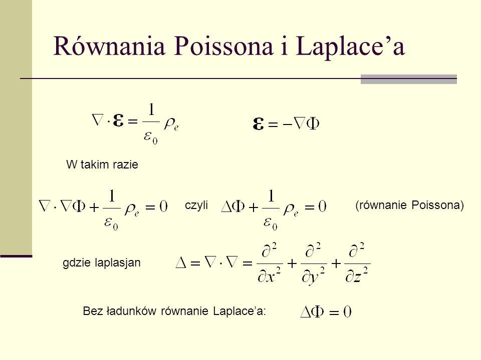 Równania Poissona i Laplace'a
