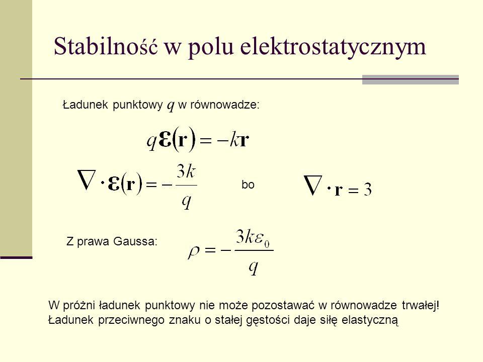 Stabilność w polu elektrostatycznym