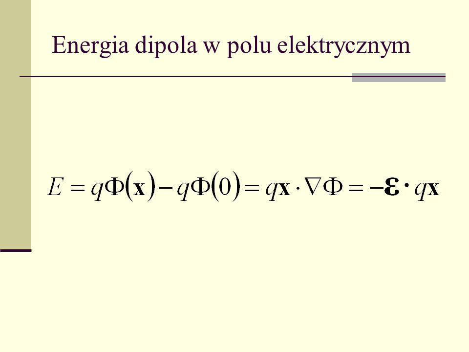 Energia dipola w polu elektrycznym