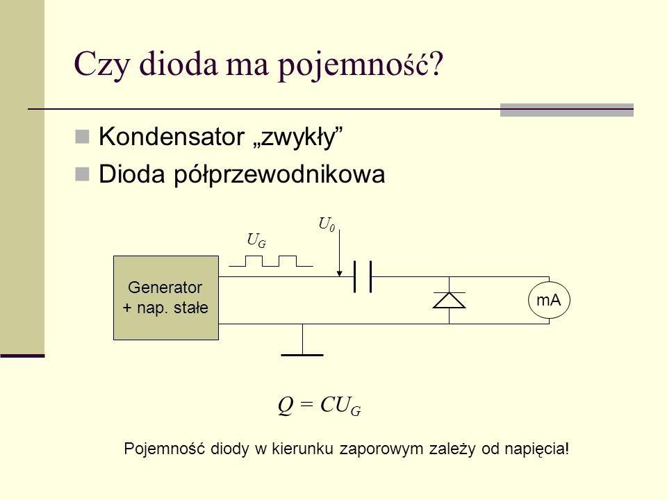 """Czy dioda ma pojemność Kondensator """"zwykły Dioda półprzewodnikowa"""