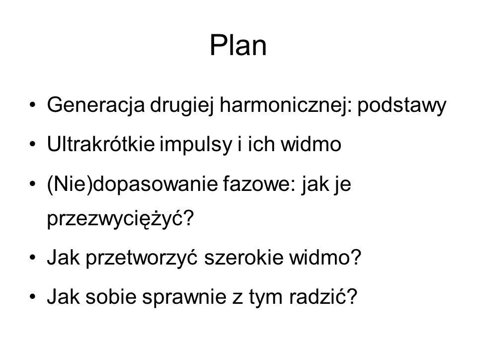 Plan Generacja drugiej harmonicznej: podstawy