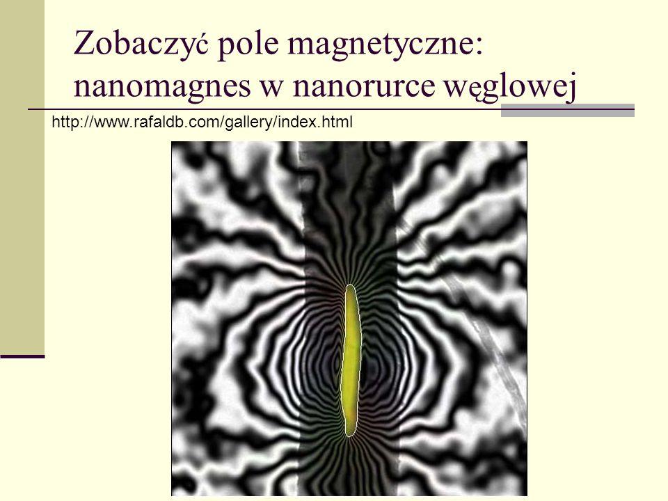 Zobaczyć pole magnetyczne: nanomagnes w nanorurce węglowej