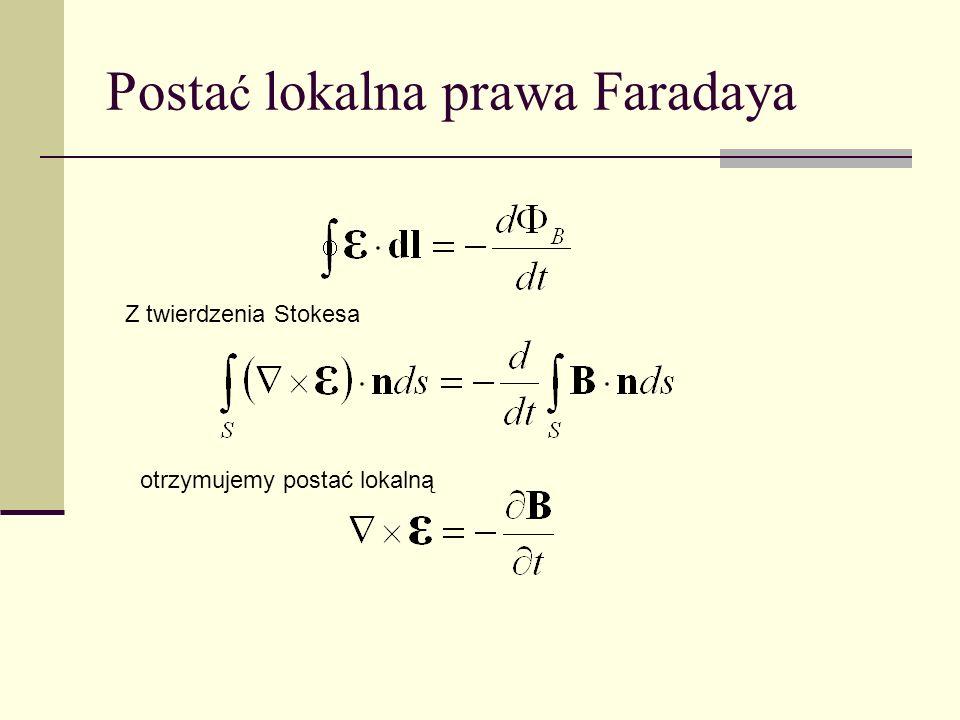 Postać lokalna prawa Faradaya