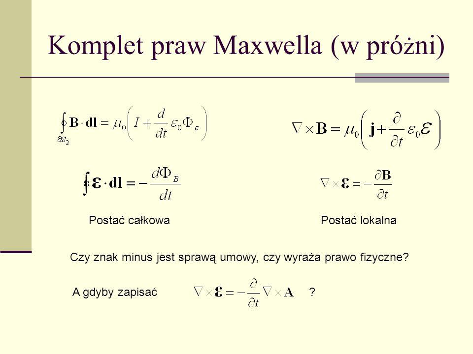 Komplet praw Maxwella (w próżni)