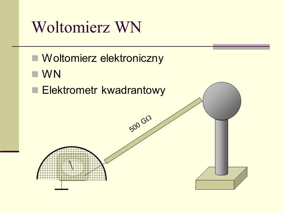 Woltomierz WN Woltomierz elektroniczny WN Elektrometr kwadrantowy