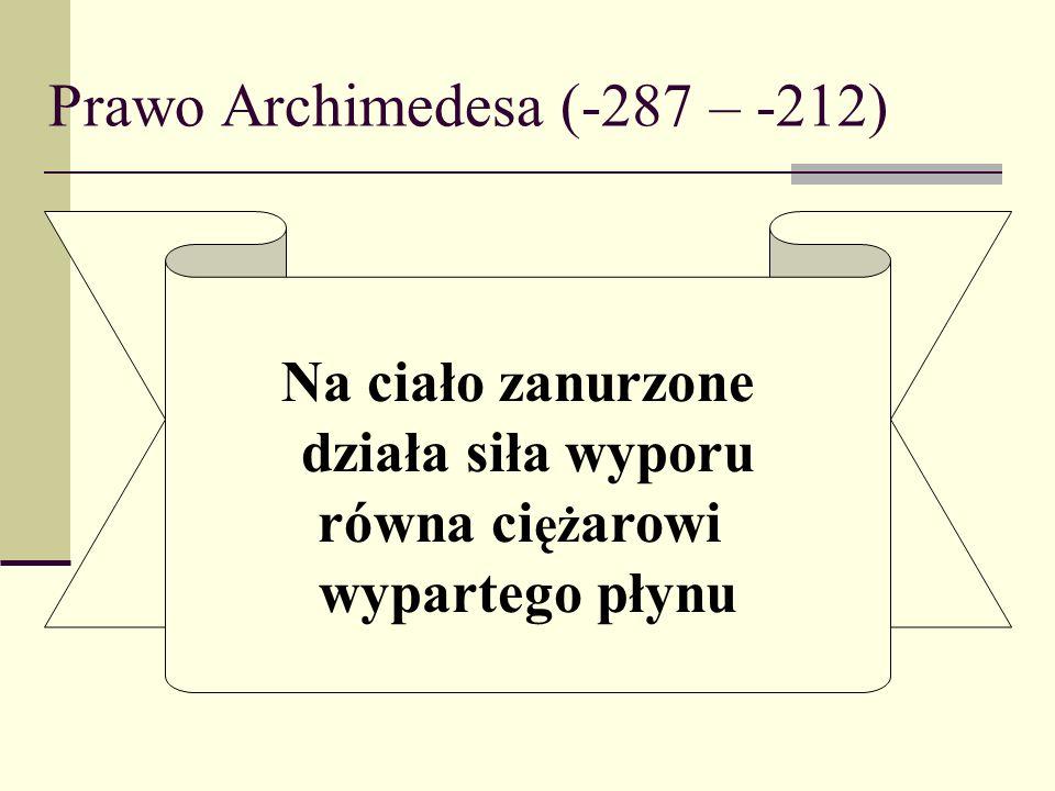 Prawo Archimedesa (-287 – -212)