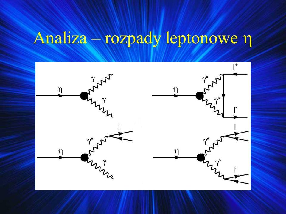 Analiza – rozpady leptonowe 