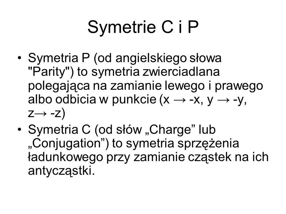 Symetrie C i P