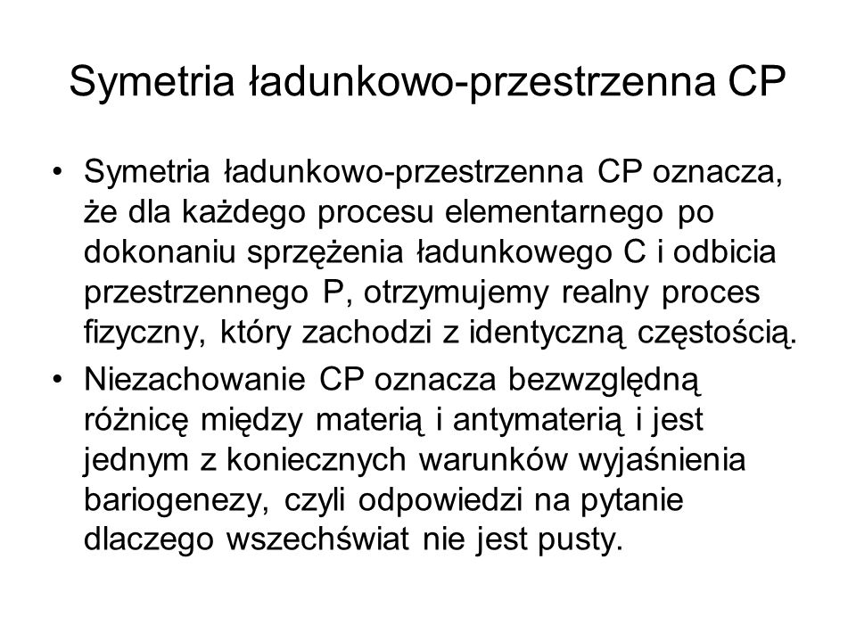 Symetria ładunkowo-przestrzenna CP