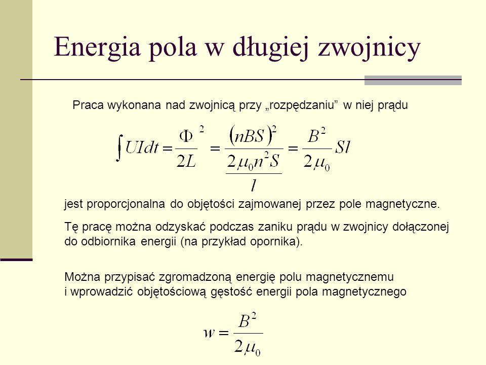 Energia pola w długiej zwojnicy