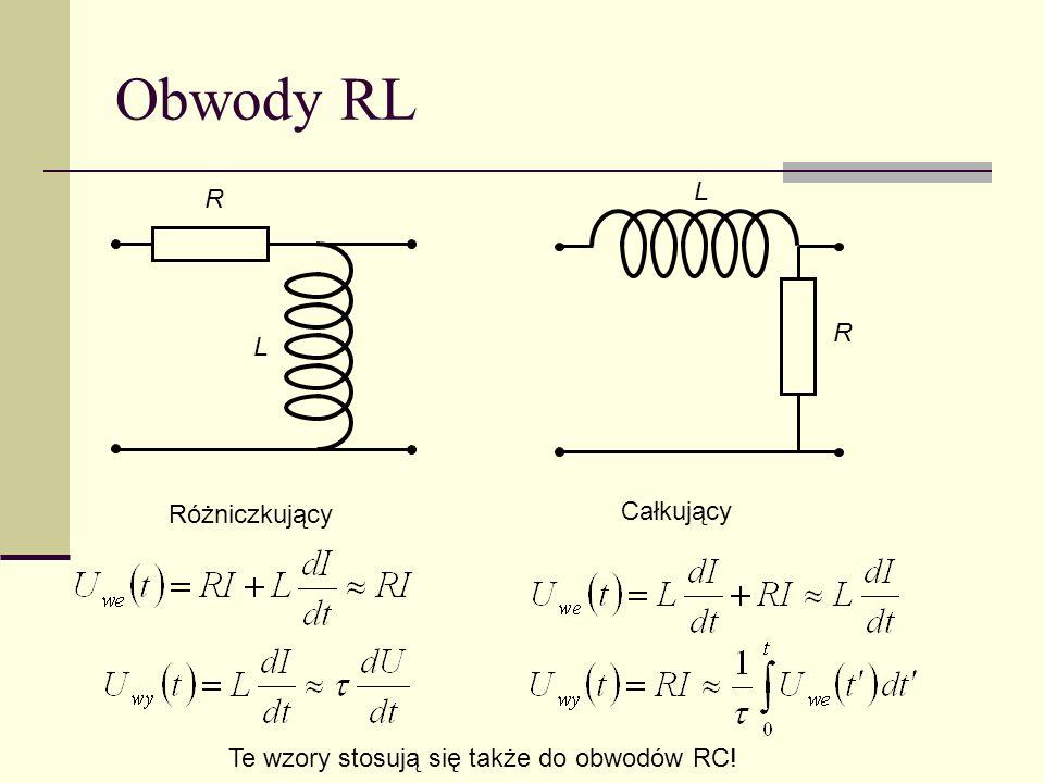 Obwody RL L R R L Różniczkujący Całkujący