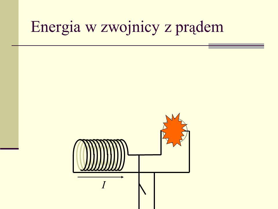 Energia w zwojnicy z prądem