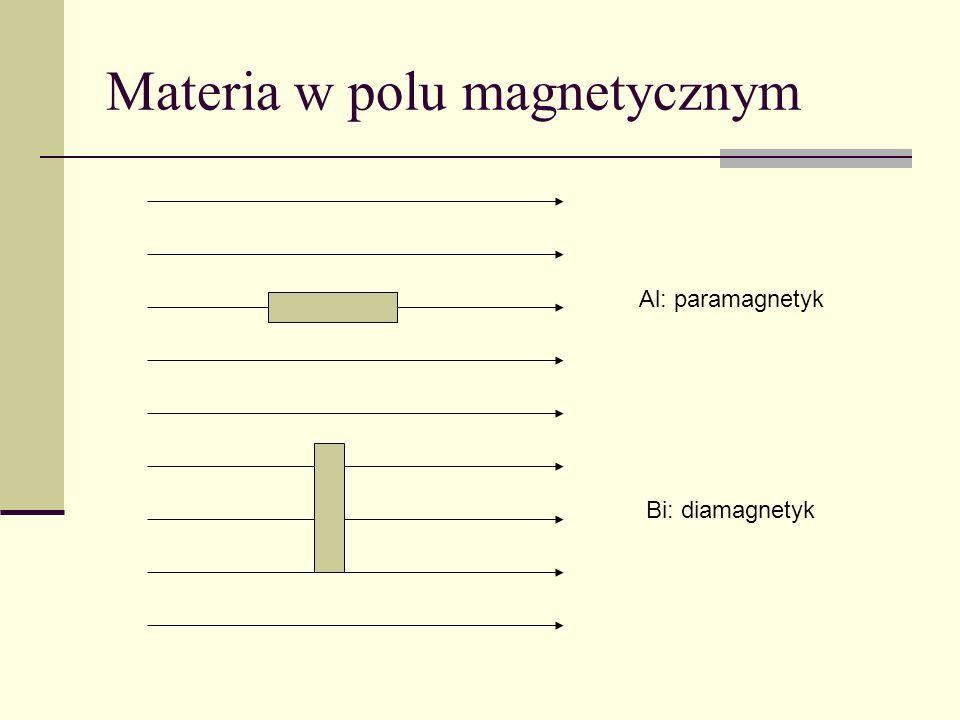 Materia w polu magnetycznym