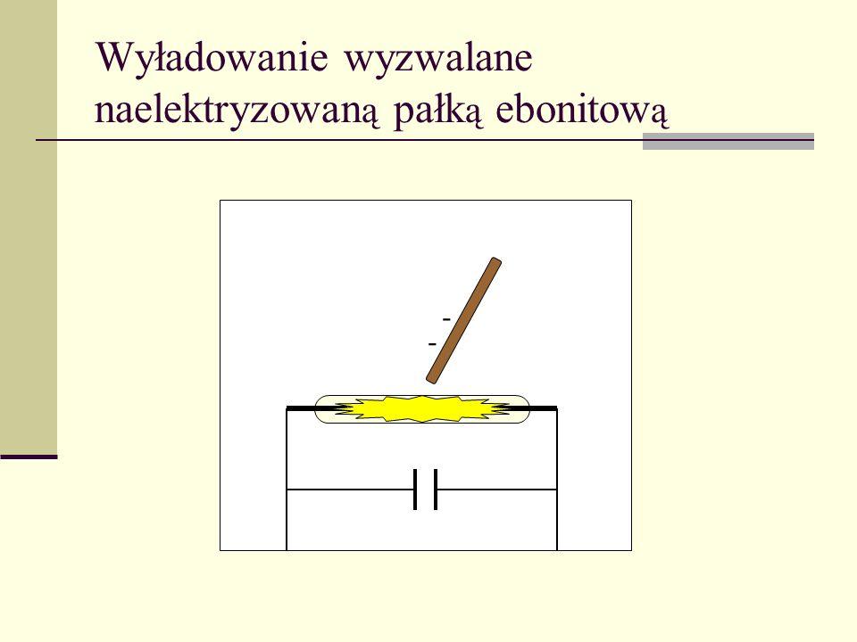 Wyładowanie wyzwalane naelektryzowaną pałką ebonitową