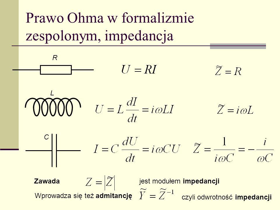 Prawo Ohma w formalizmie zespolonym, impedancja