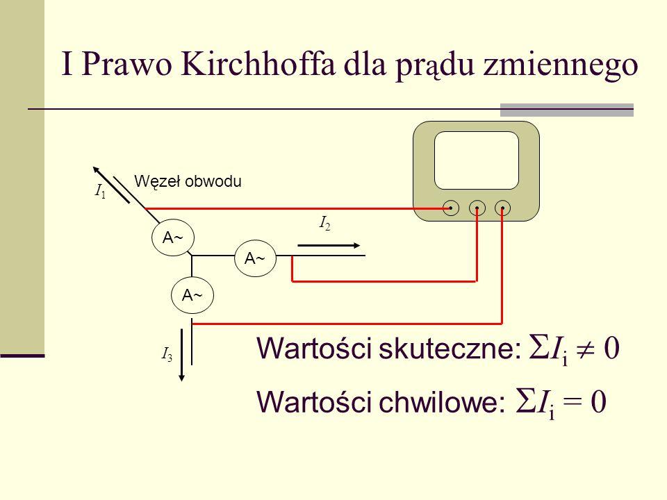 I Prawo Kirchhoffa dla prądu zmiennego