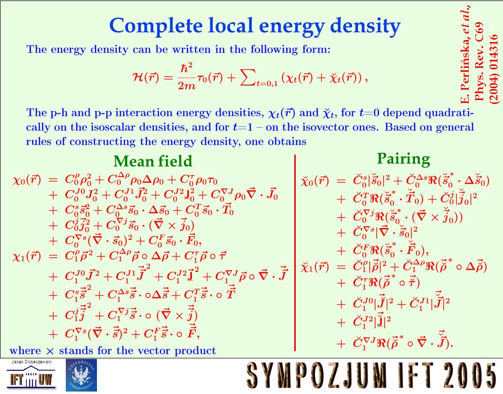 Complete local energy density