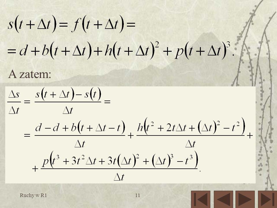 A zatem: Ruchy w R1